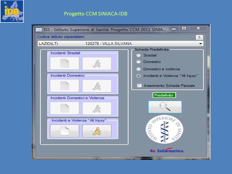 Progetto CCM SINIACA-IDB