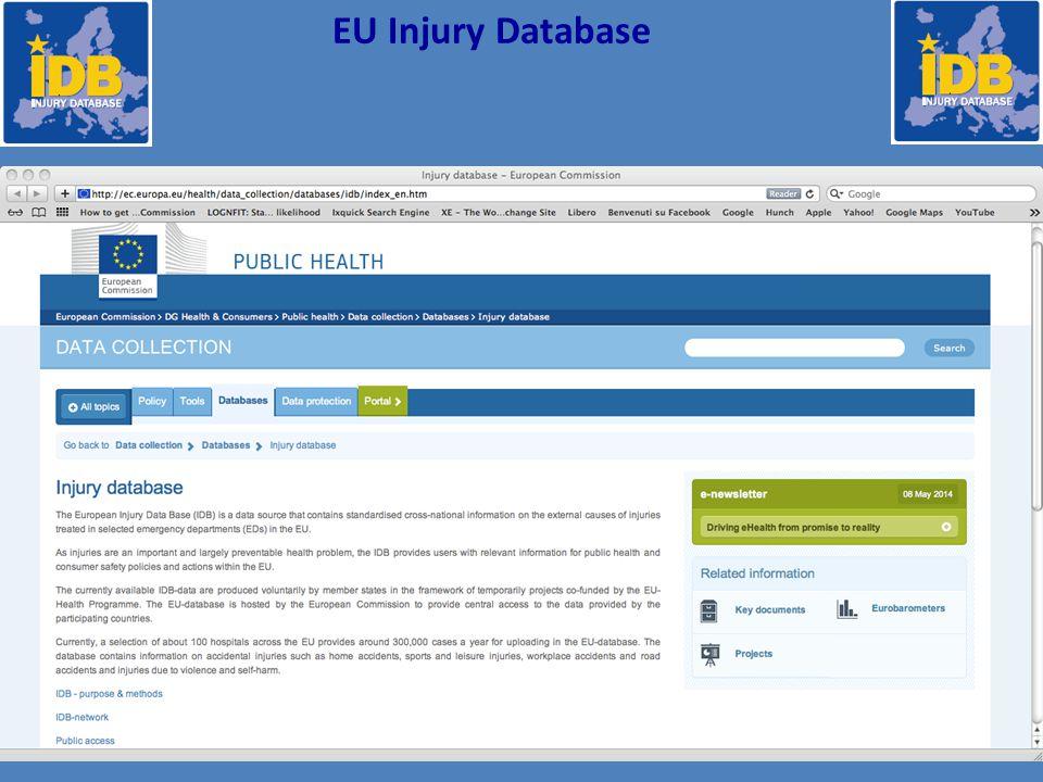 Fonte: SINIACA-IDB, EMURGruppi diagnostici EUROCOST 39 Distribuzione % Accessi in PS per incidenti domestici Pool 3 Regioni 2011 (885.498) gruppi diagnostici Eurocost 39 %