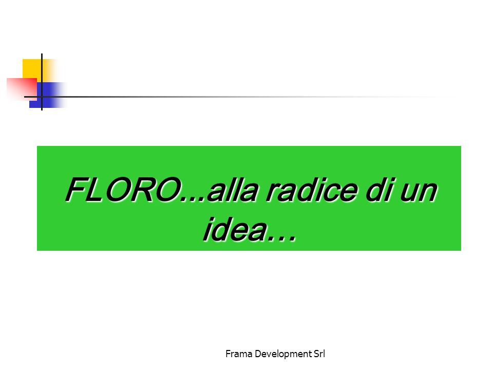 Frama Development Srl FLORO...alla radice di un idea…