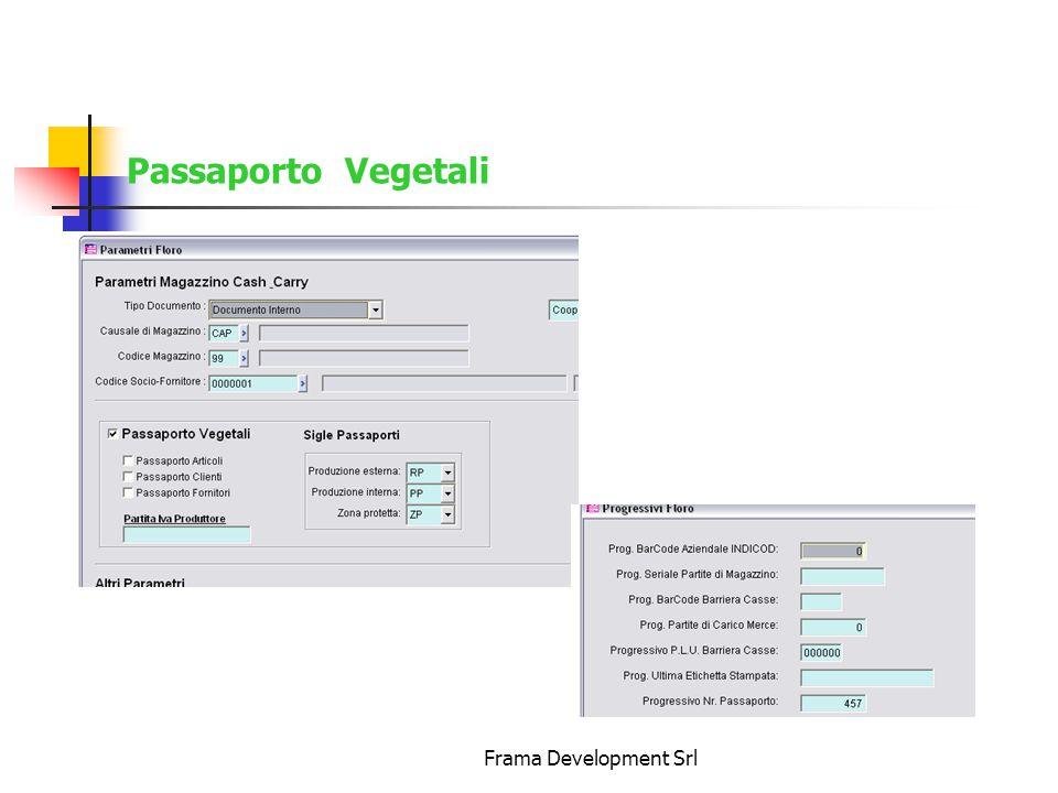 Passaporto Vegetali Frama Development Srl