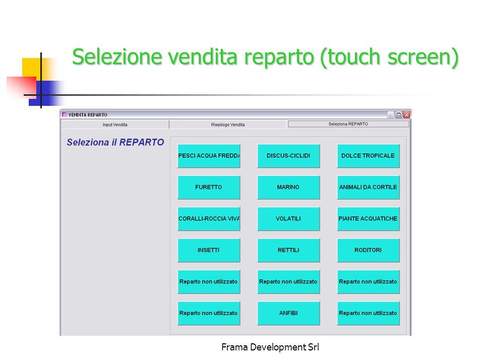 Frama Development Srl Selezione vendita reparto (touch screen)