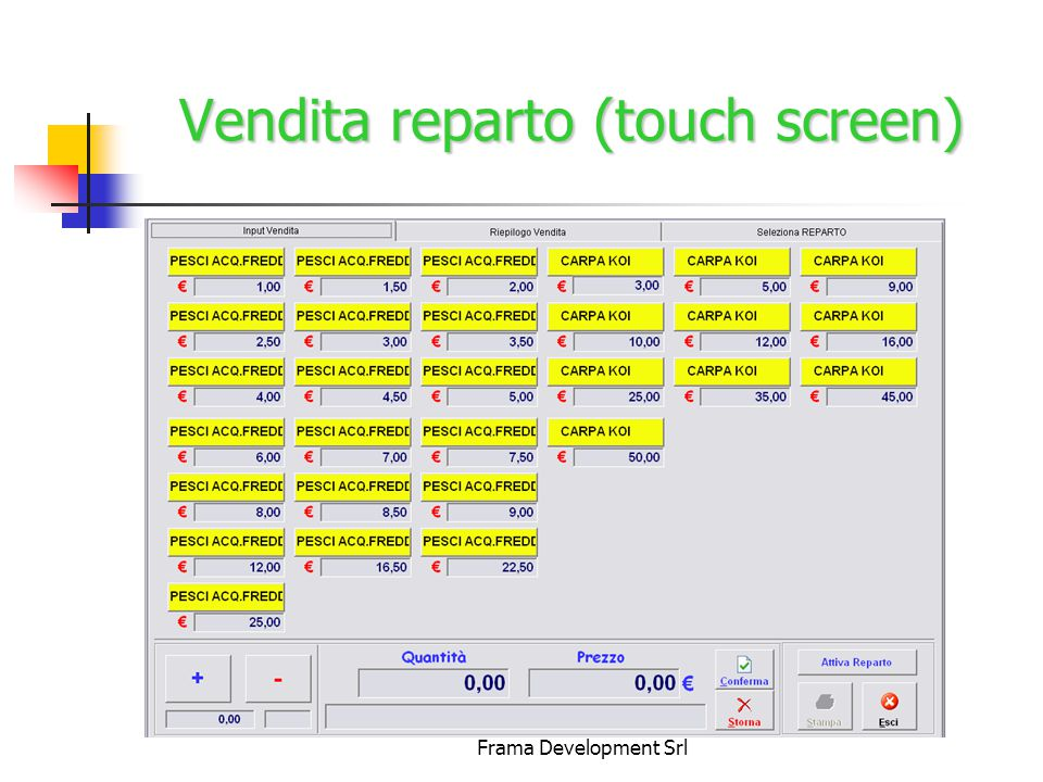 Frama Development Srl Vendita reparto (touch screen)