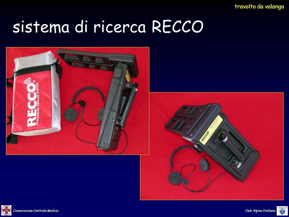 Commissione Centrale Medica Club Alpino Italiano sistema di ricerca RECCO travolto da valanga