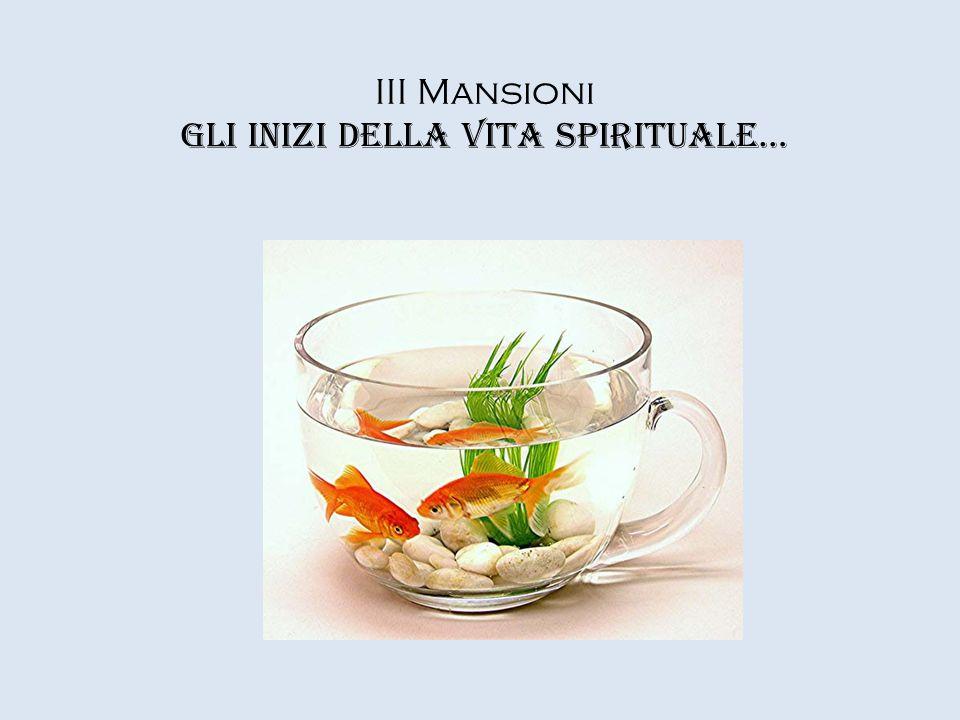 III Mansioni Gli inizi della vita spirituale…