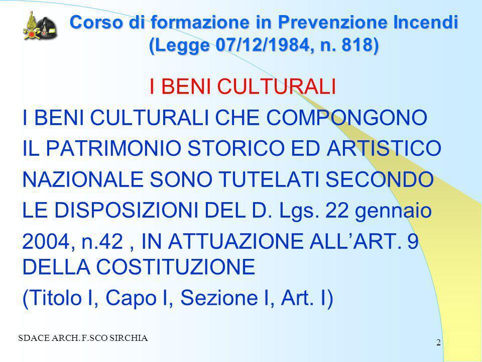 2 Corso di formazione in Prevenzione Incendi (Legge 07/12/1984, n.