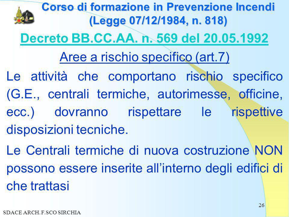 26 Corso di formazione in Prevenzione Incendi (Legge 07/12/1984, n.