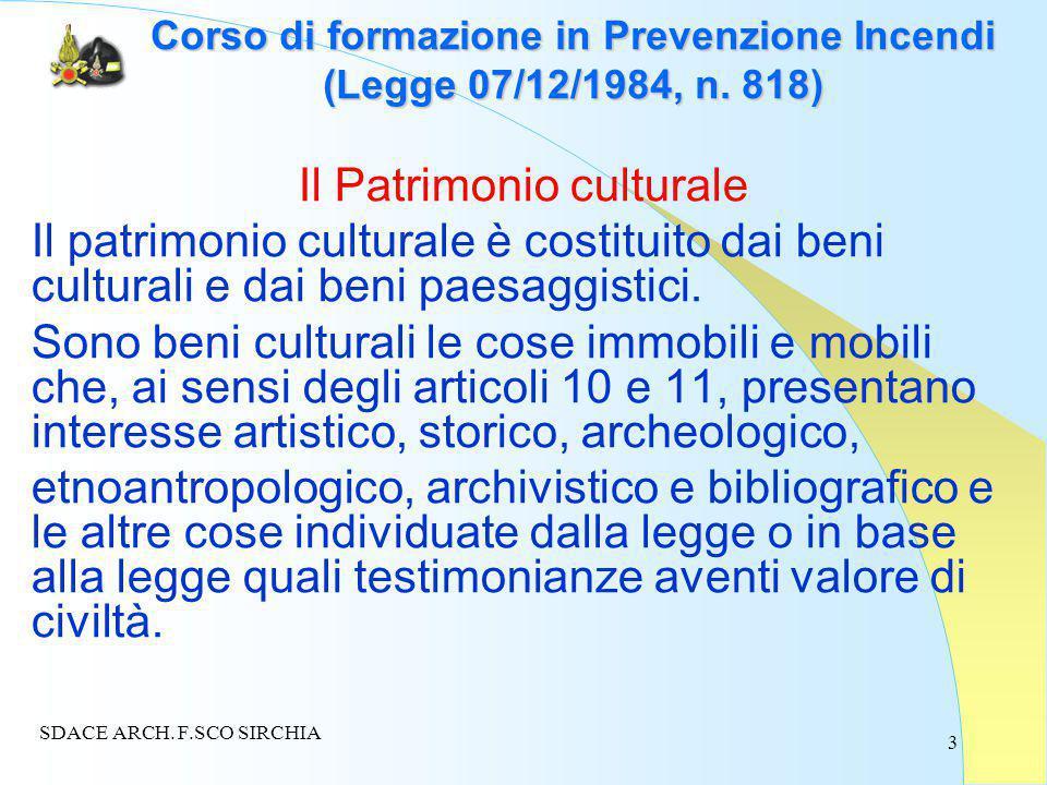 3 Corso di formazione in Prevenzione Incendi (Legge 07/12/1984, n.