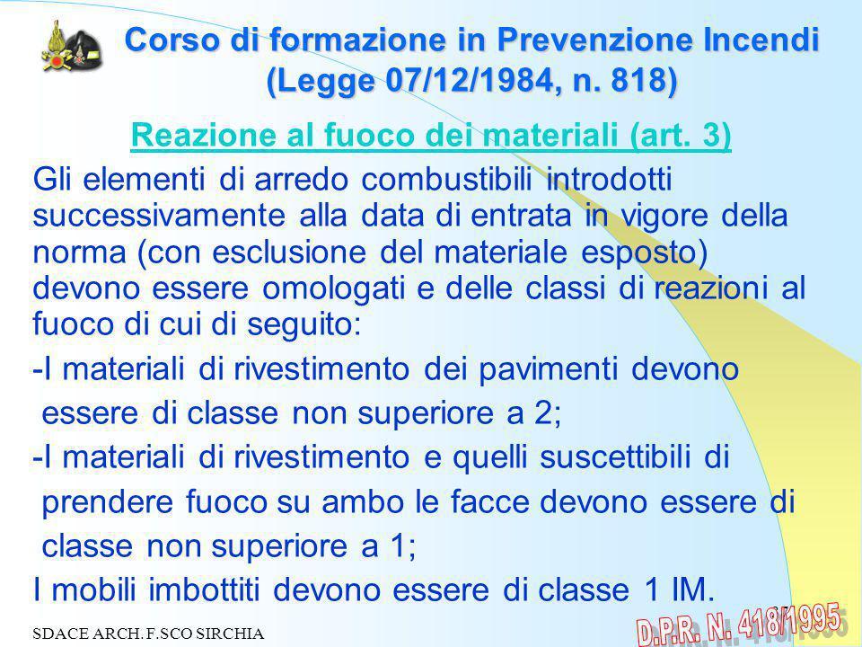 37 Corso di formazione in Prevenzione Incendi (Legge 07/12/1984, n.