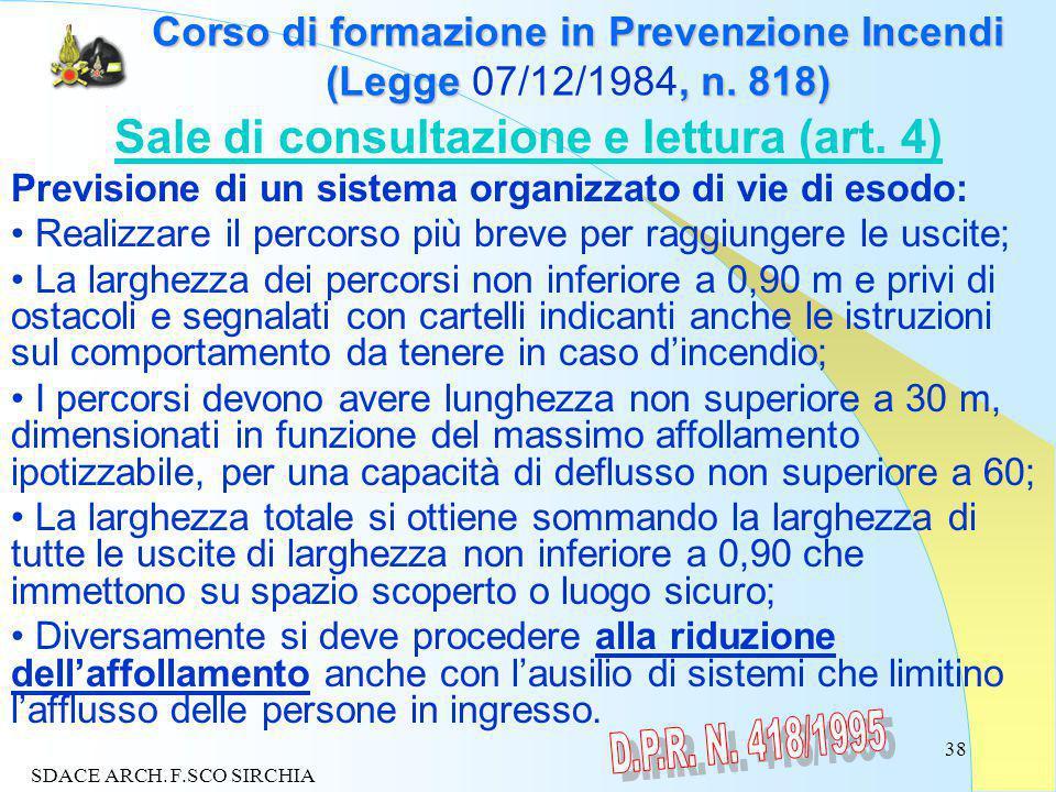 38 Corso di formazione in Prevenzione Incendi (Legge, n.