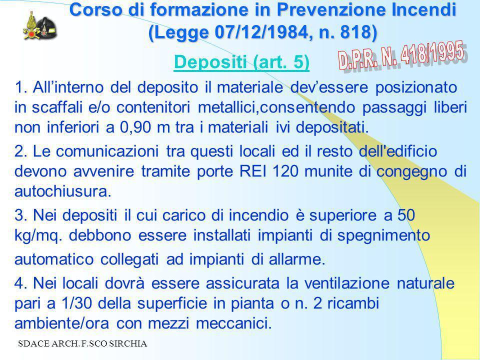 Corso di formazione in Prevenzione Incendi (Legge 07/12/1984, n.