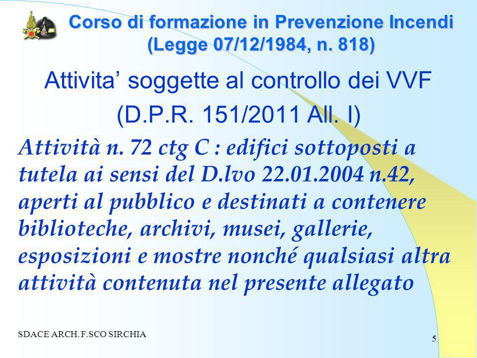 5 Corso di formazione in Prevenzione Incendi (Legge 07/12/1984, n.