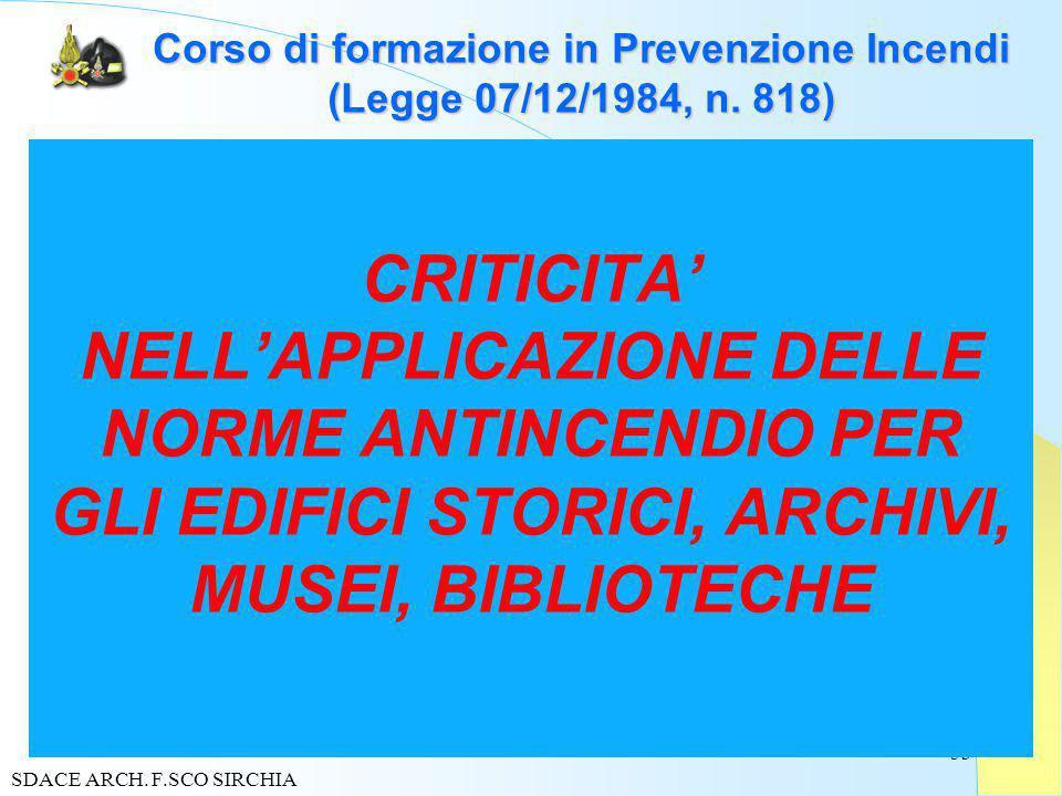 53 Corso di formazione in Prevenzione Incendi (Legge 07/12/1984, n.