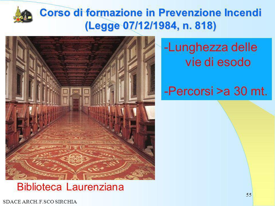 55 Corso di formazione in Prevenzione Incendi (Legge 07/12/1984, n.