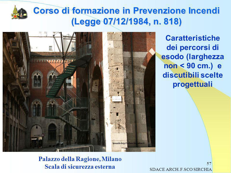57 Corso di formazione in Prevenzione Incendi (Legge 07/12/1984, n.