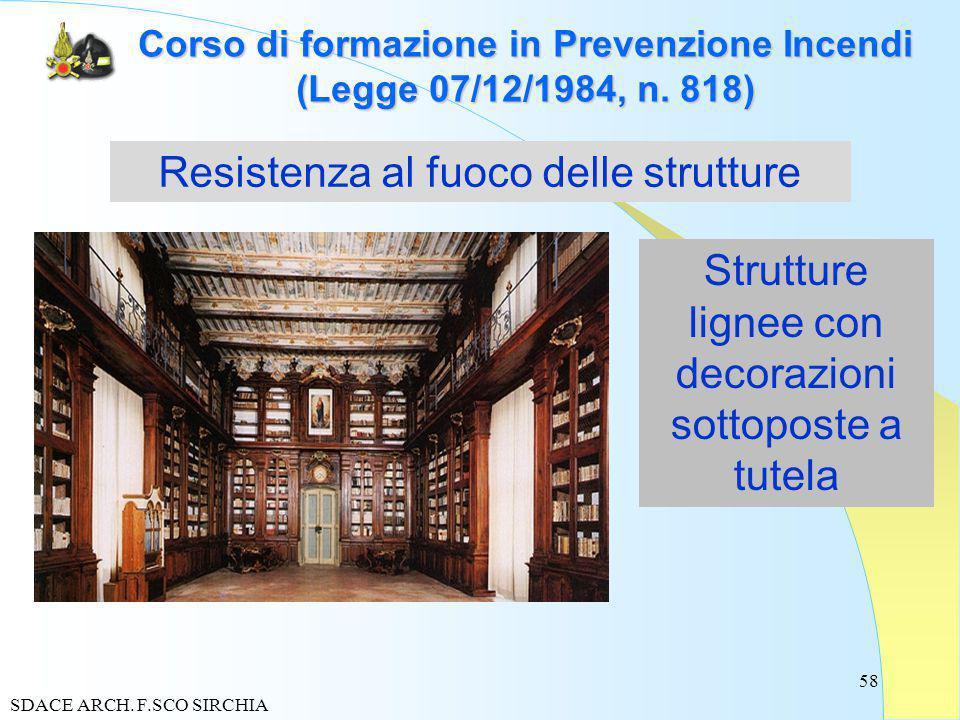 58 Corso di formazione in Prevenzione Incendi (Legge 07/12/1984, n.