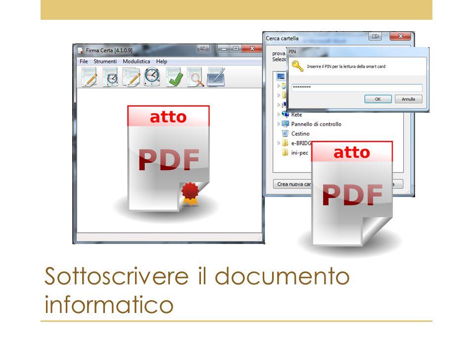 Sottoscrivere il documento informatico