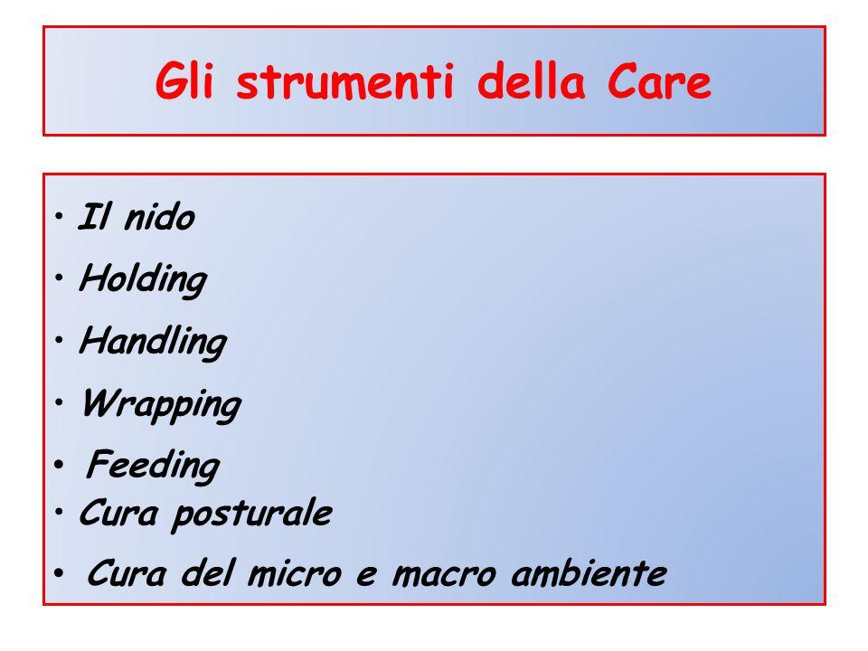 Gli strumenti della Care Il nido Holding Handling Wrapping Feeding Cura posturale Cura del micro e macro ambiente