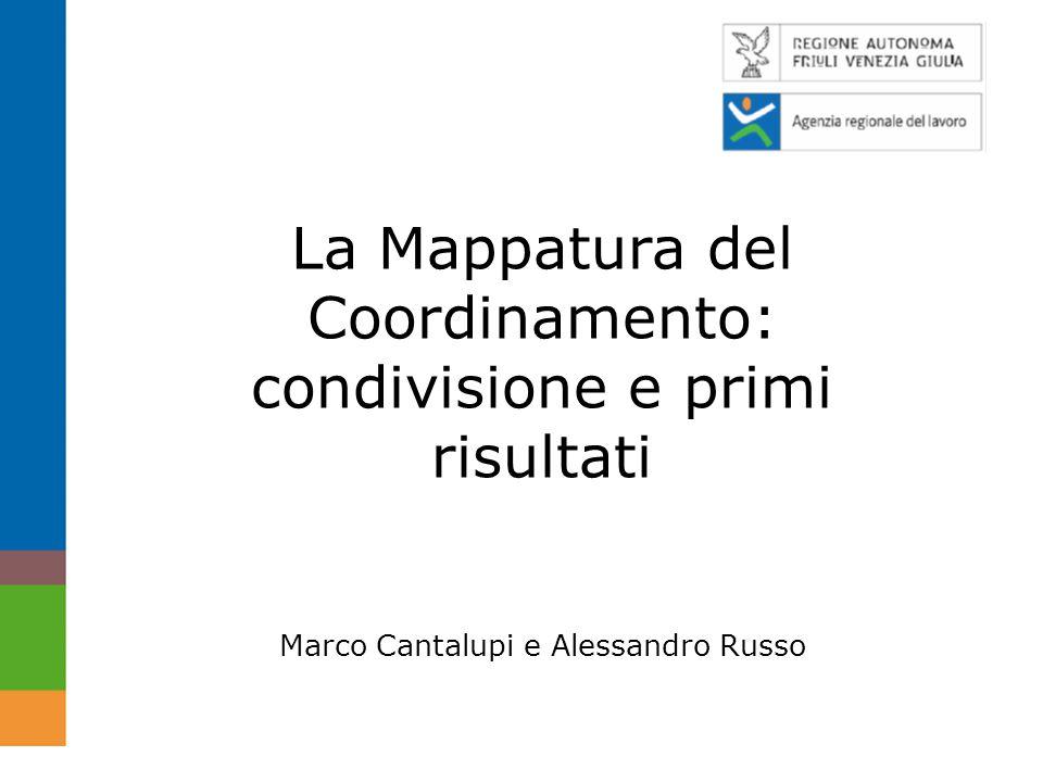 La Mappatura del Coordinamento: condivisione e primi risultati Marco Cantalupi e Alessandro Russo