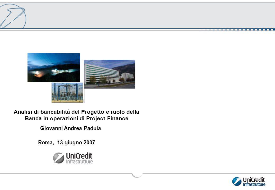 1 Analisi di bancabilità del Progetto: la Struttura dell'Operazione