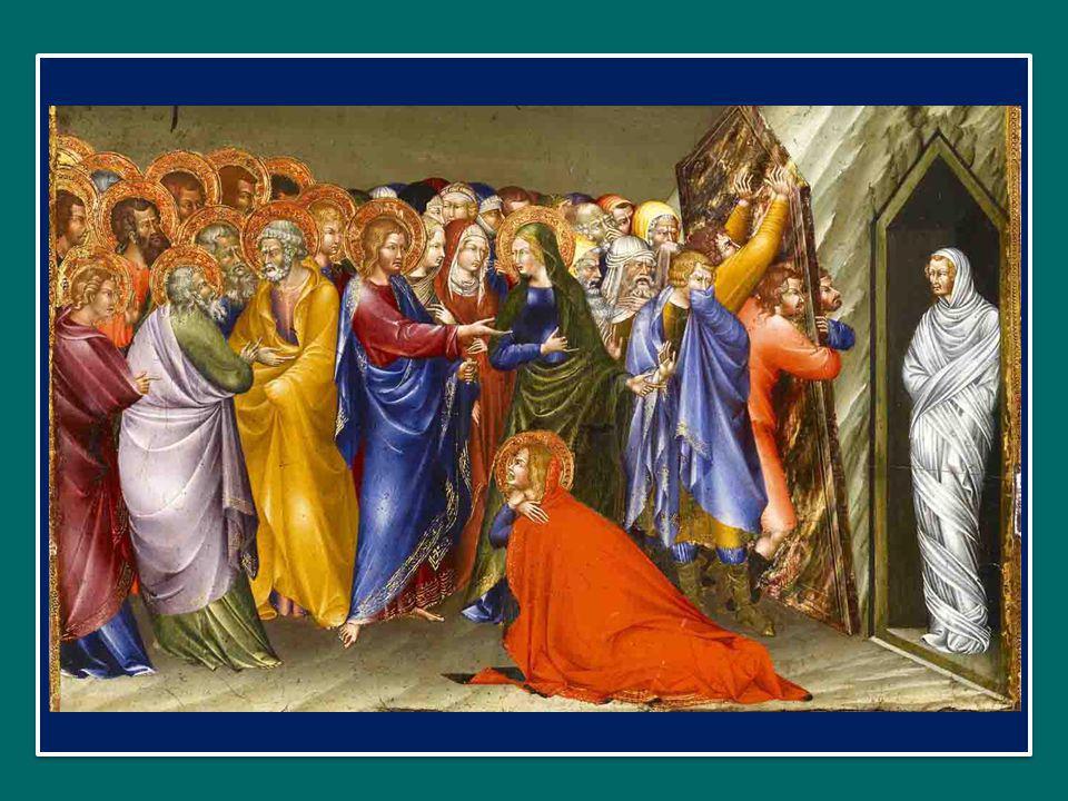 Lazzaro era morto già da tre giorni, quando giunse Gesù; e alle sorelle Marta e Maria Egli disse parole che si sono impresse per sempre nella memoria della comunità cristiana.