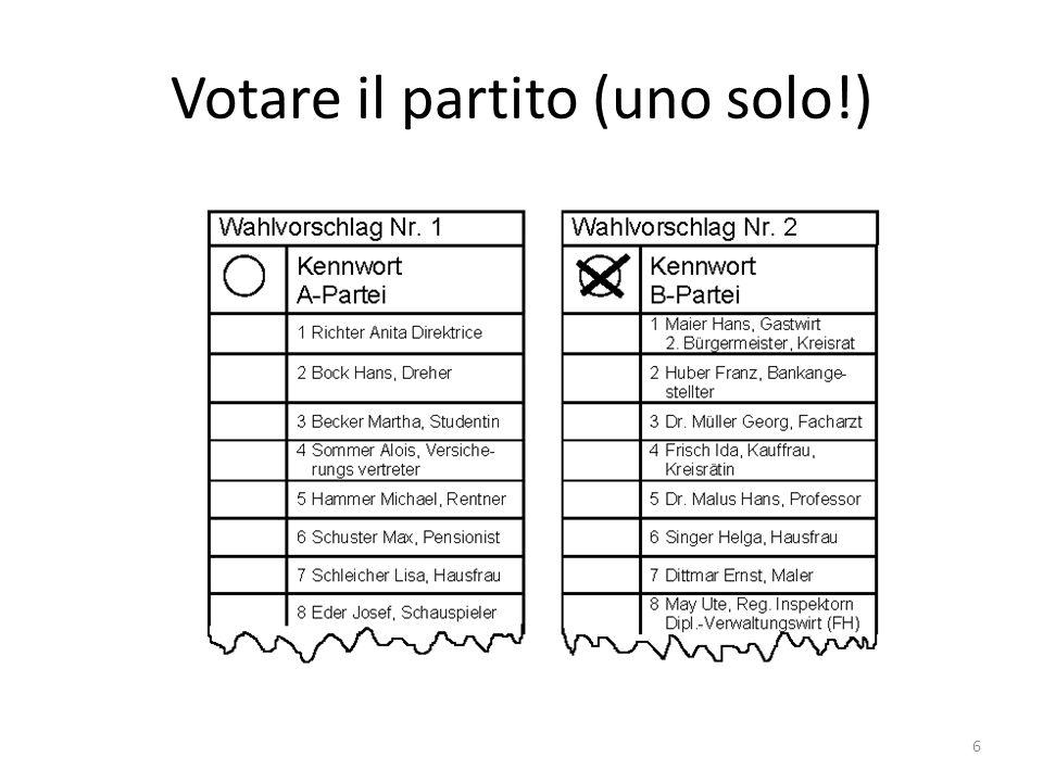 Votare il partito (uno solo!) 6