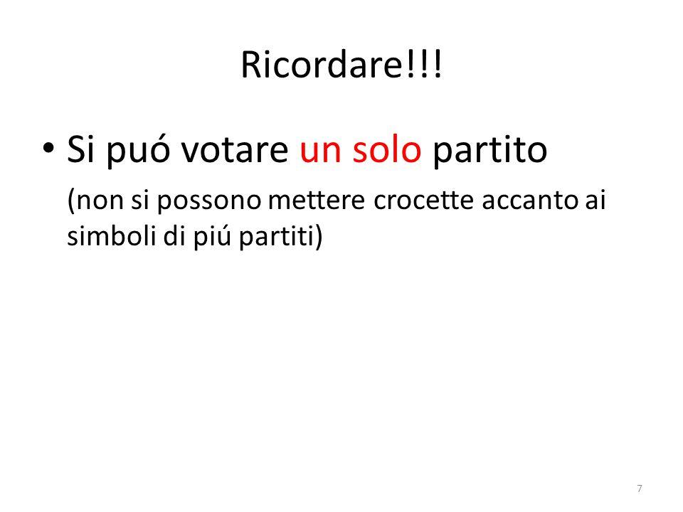 Votare un partito e scegliere fra i suoi candidati 8 Voto di lista: i voti non espressi vengono distribuiti fra tutti i candidati, ma i candidati 2 e 4 (cancellati) non ricevono alcun voto!