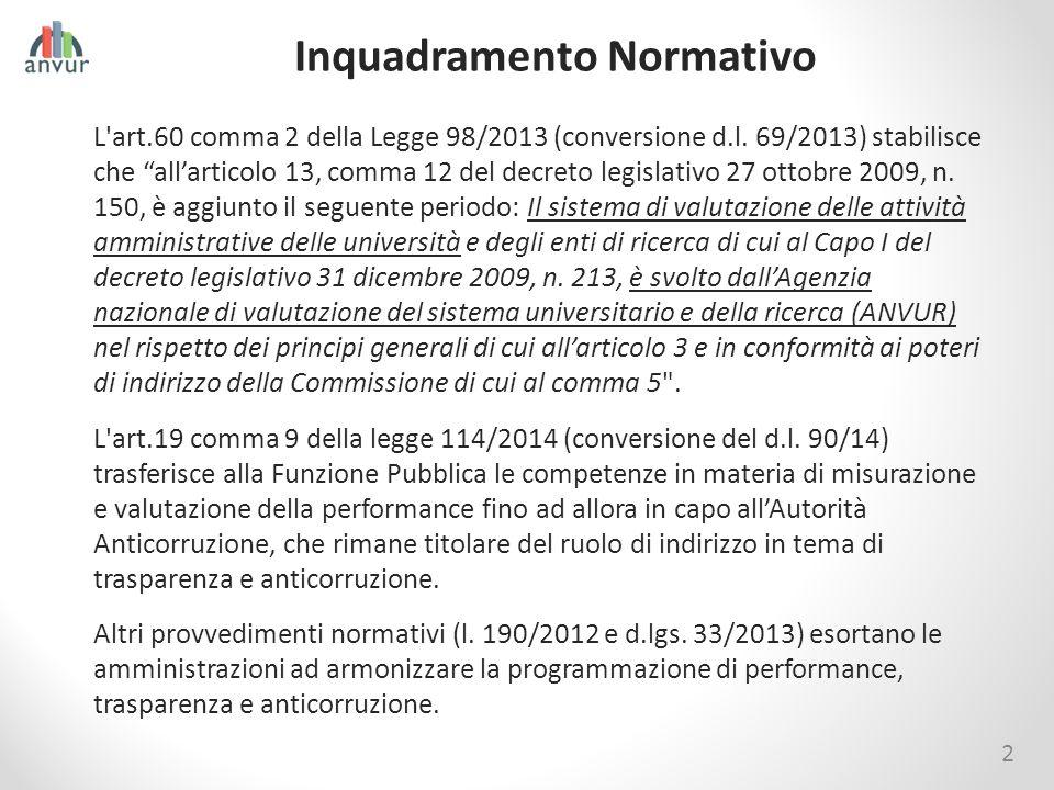 """2 Inquadramento Normativo L'art.60 comma 2 della Legge 98/2013 (conversione d.l. 69/2013) stabilisce che """"all'articolo 13, comma 12 del decreto legisl"""