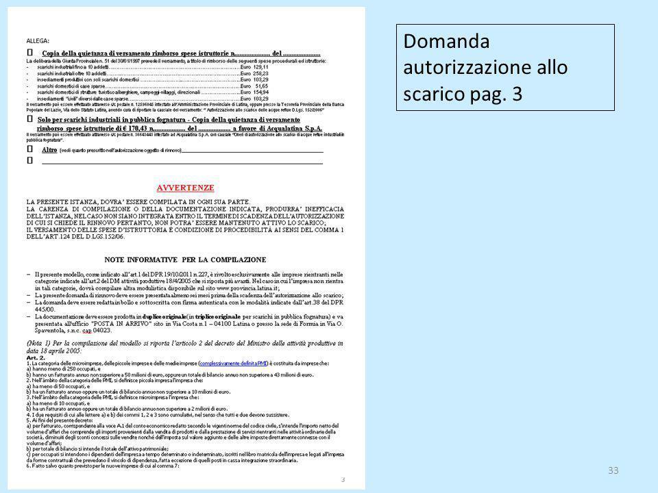 33 Domanda autorizzazione allo scarico pag. 3