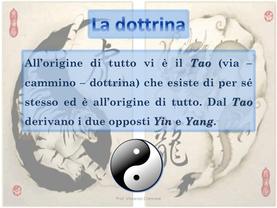 Prof. Vincenzo Cremone Tao Tao YinYang All'origine di tutto vi è il Tao (via – cammino – dottrina) che esiste di per sé stesso ed è all'origine di tut
