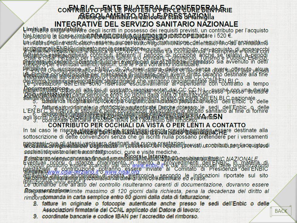Regolamento delle prestazioni integrative del servizio sanitario nazionale BACK