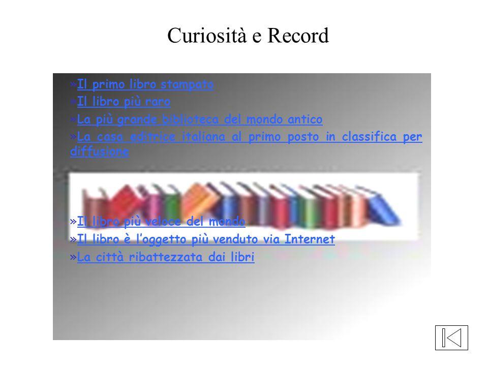 »Il primo libro stampatoIl primo libro stampato »Il libro più raroIl libro più raro »La più grande biblioteca del mondo anticoLa più grande biblioteca