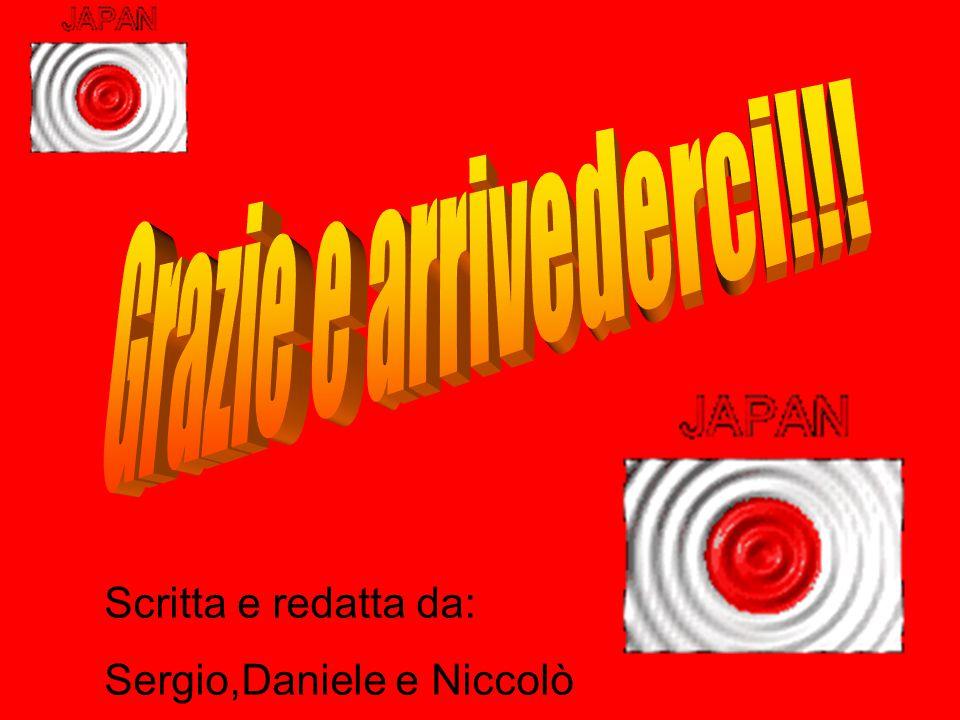 Scritta e redatta da: Sergio,Daniele e Niccolò