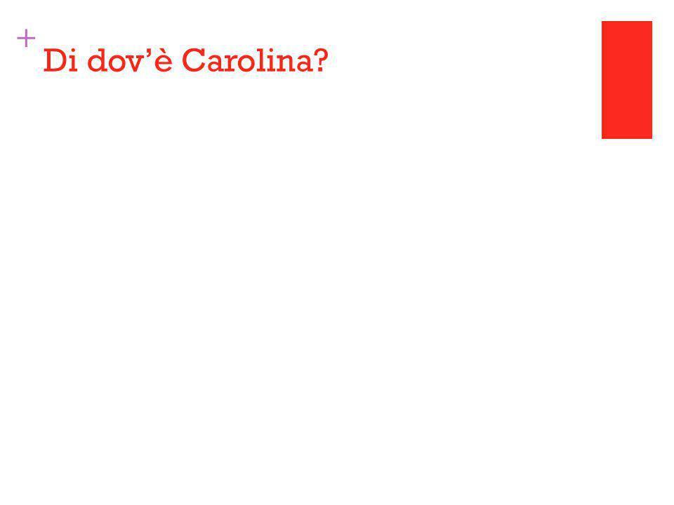 + Di dov'è Carolina
