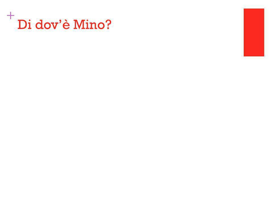 + Di dov'è Mino