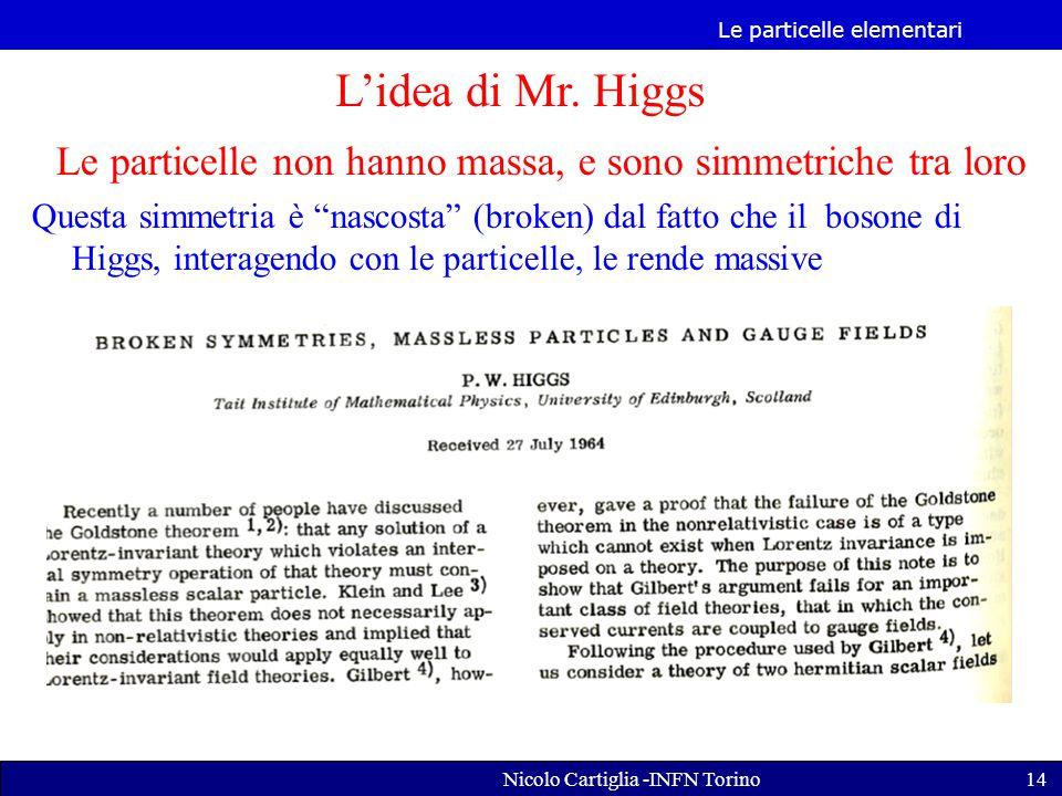 Le particelle elementari Nicolo Cartiglia -INFN Torino14 L'idea di Mr.