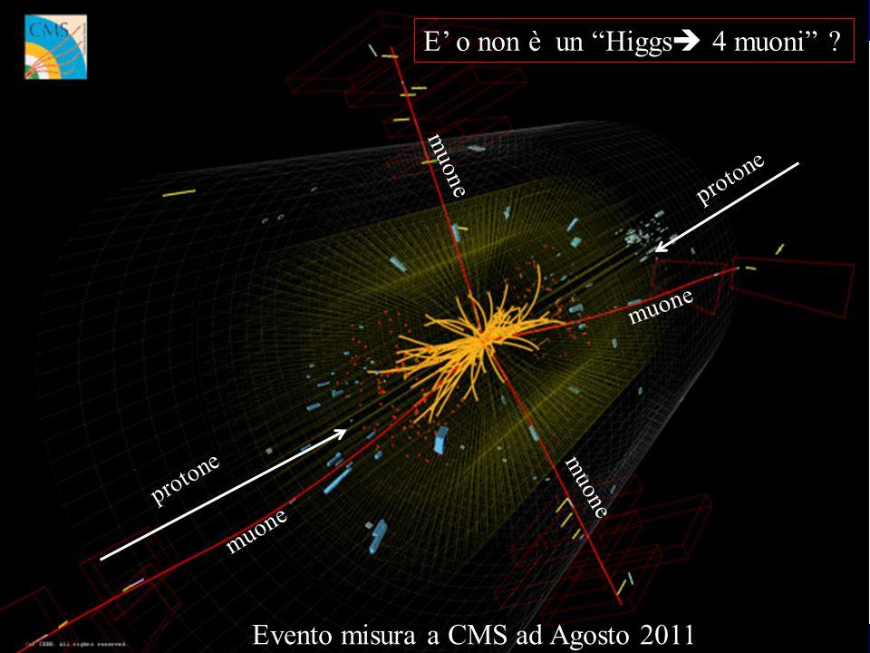 Le particelle elementari Nicolo Cartiglia -INFN Torino26 protone muone Evento misura a CMS ad Agosto 2011 muone E' o non è un Higgs   muoni