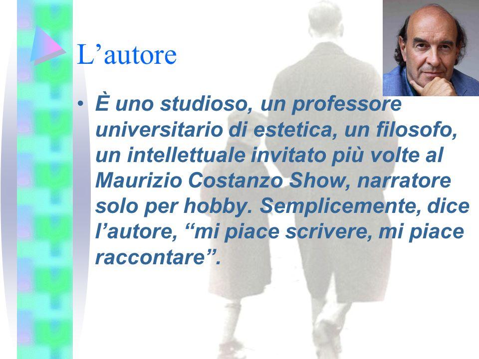 L'autore È uno studioso, un professore universitario di estetica, un filosofo, un intellettuale invitato più volte al Maurizio Costanzo Show, narrator