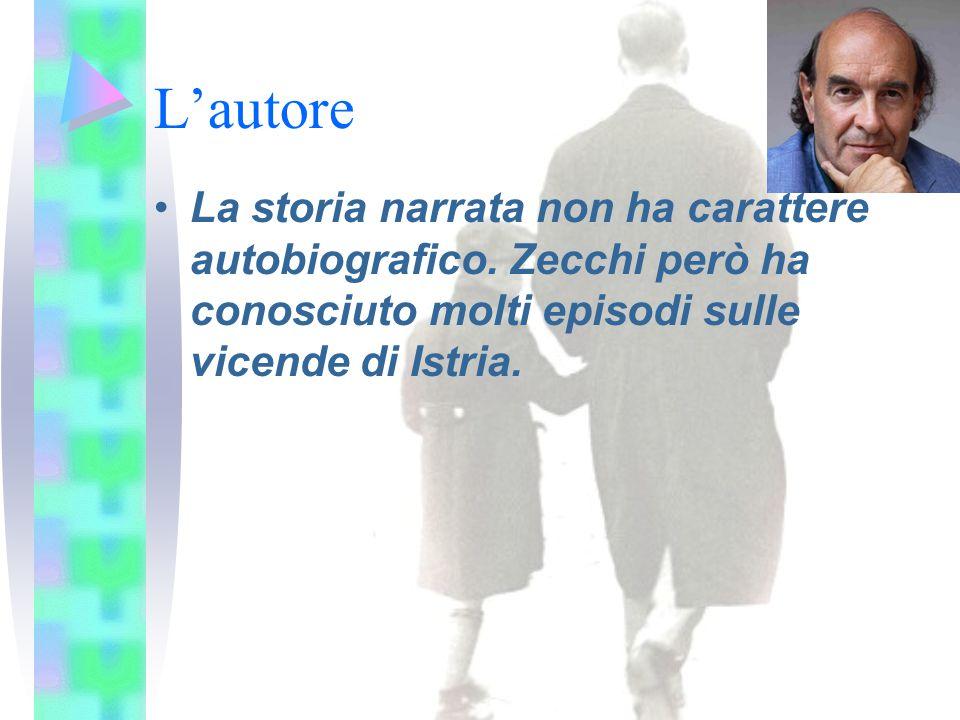 L'autore La storia narrata non ha carattere autobiografico. Zecchi però ha conosciuto molti episodi sulle vicende di Istria.