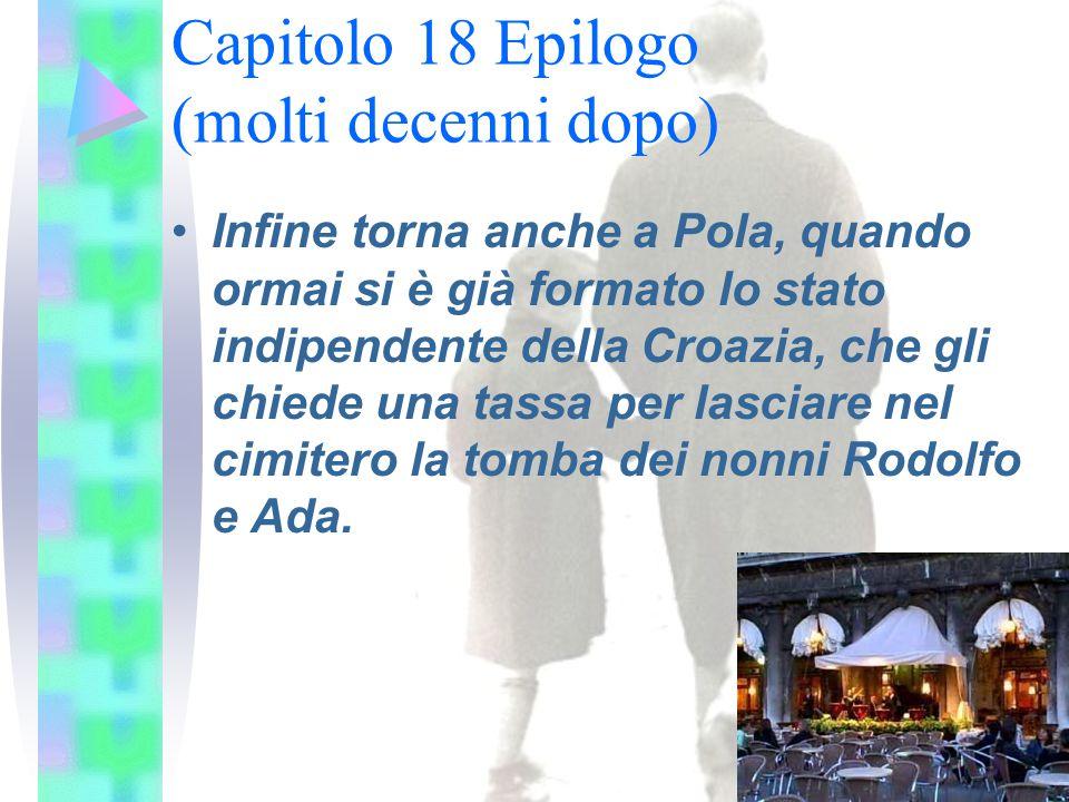 Infine torna anche a Pola, quando ormai si è già formato lo stato indipendente della Croazia, che gli chiede una tassa per lasciare nel cimitero la tomba dei nonni Rodolfo e Ada.