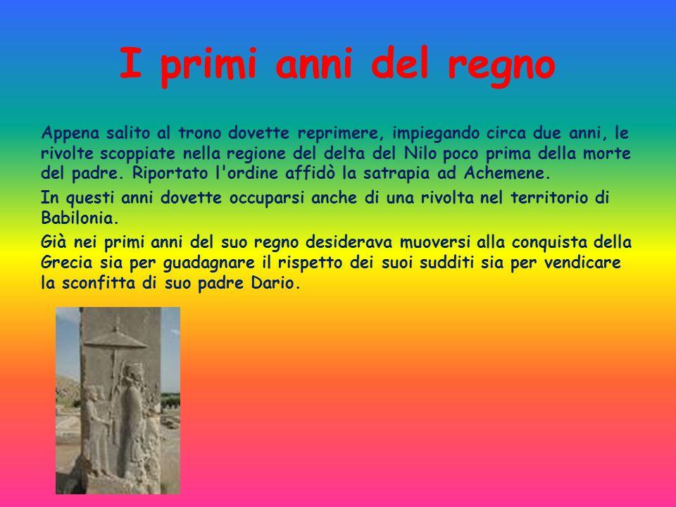 I primi anni del regno Appena salito al trono dovette reprimere, impiegando circa due anni, le rivolte scoppiate nella regione del delta del Nilo poco