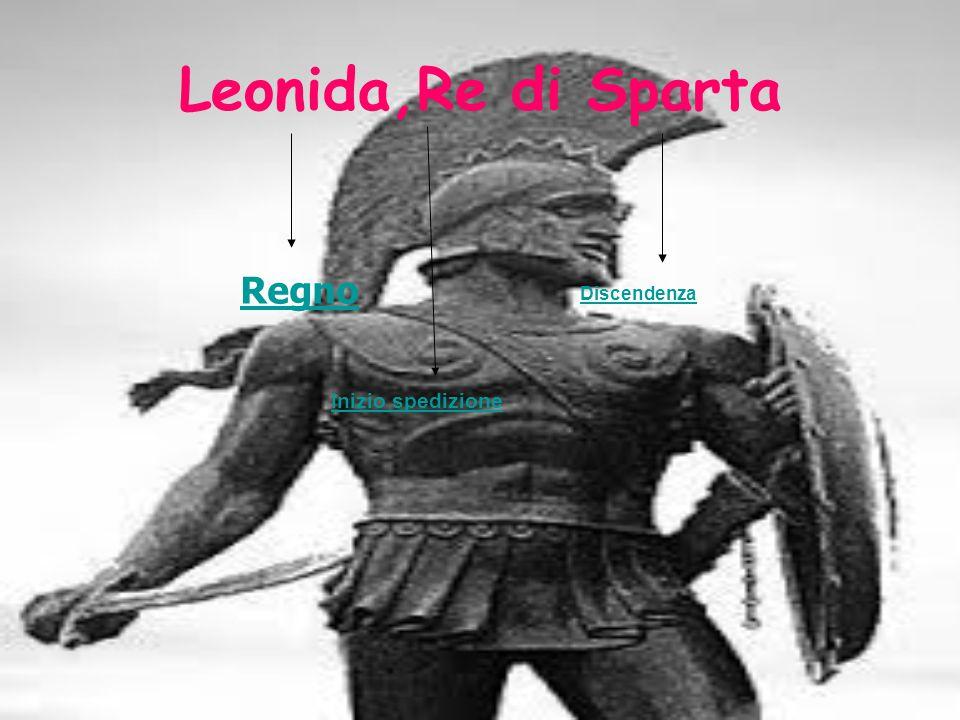 Leonida,Re di Sparta Regno Discendenza Inizio spedizione