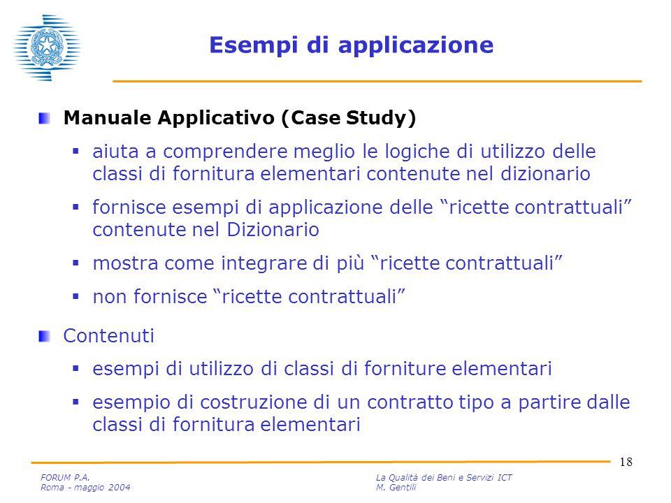 18 FORUM P.A. La Qualità dei Beni e Servizi ICT Roma - maggio 2004M.