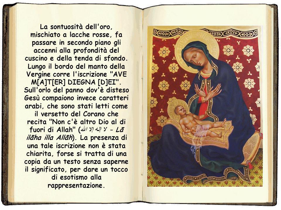 Sul tema l'artista si era già cimentato almeno in una tavola al Getty Museum di Los Angeles databile al 1420-1421 circa, dove però la Vergine è pienam