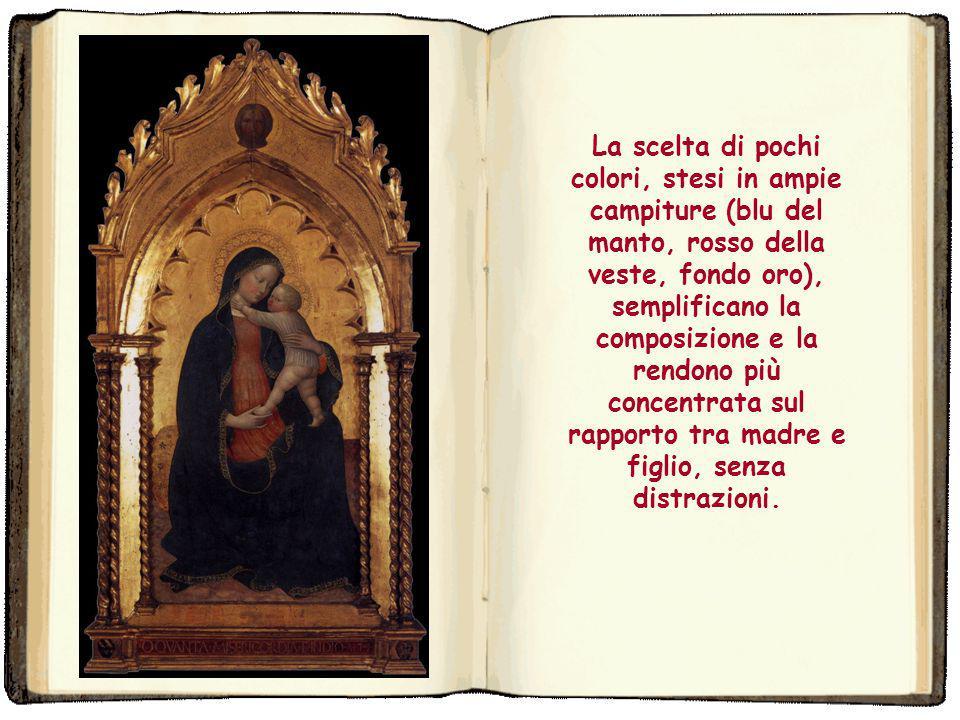 ed era l'opposto iconografico della Maestà, dove la Vergine era ritratta in trono. Questo tema, legato all'umiltà della Chiesa (simboleggiata dalla Ve