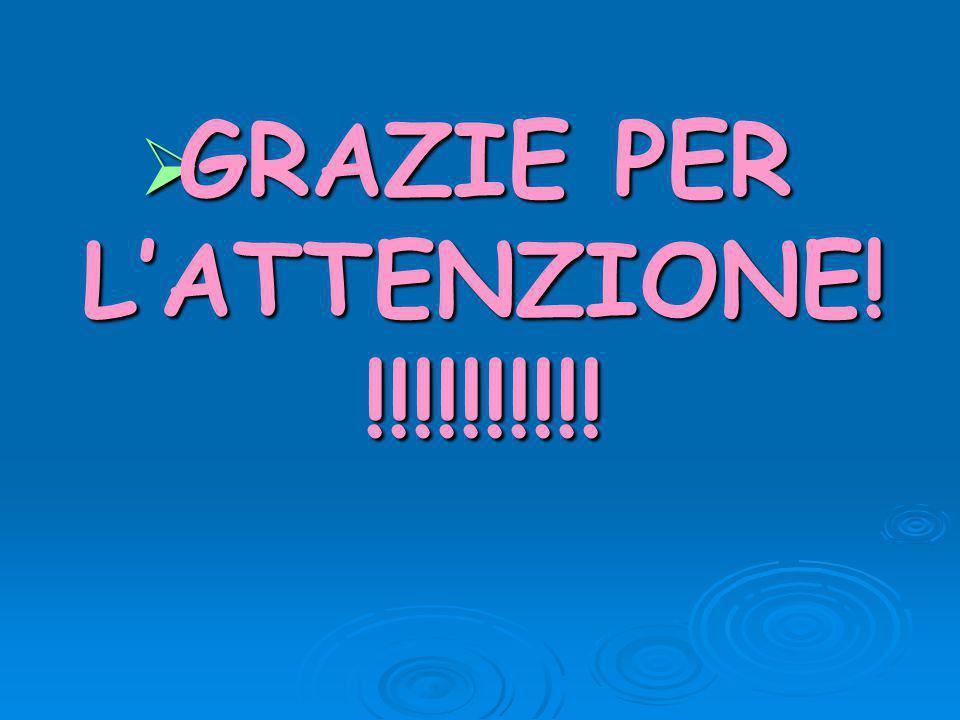  GRAZIE PER L'ATTENZIONE! !!!!!!!!!!
