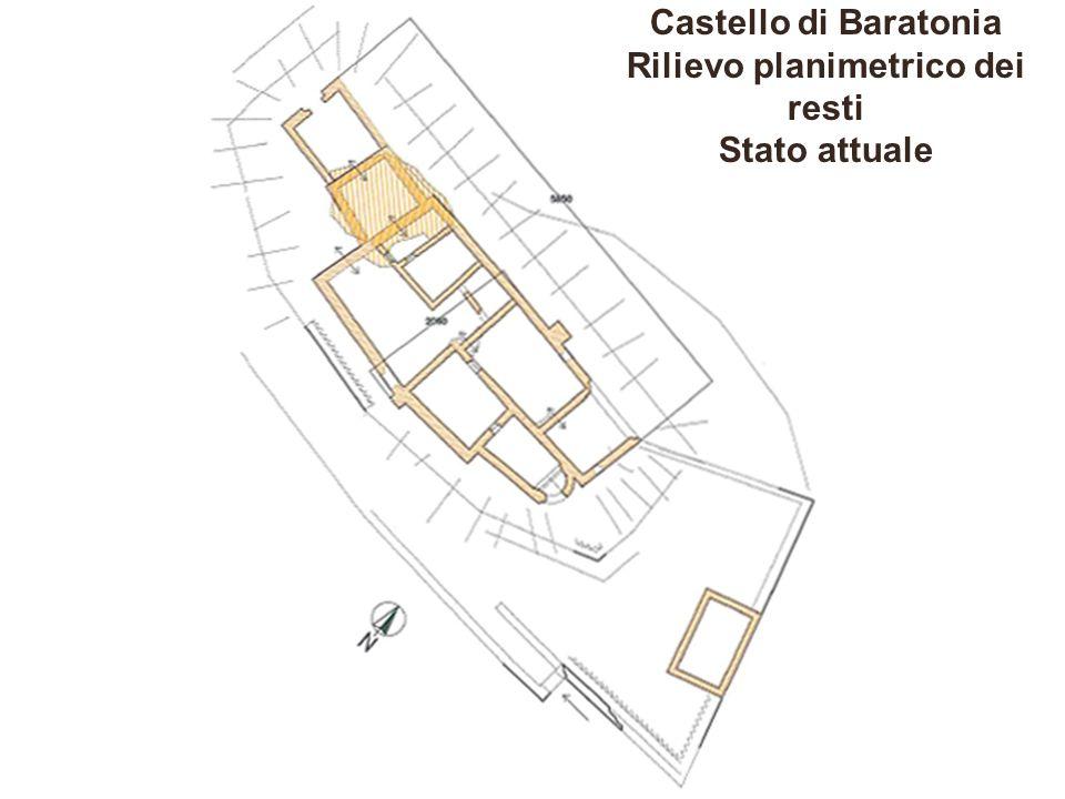 Castello di Baratonia Rilievo planimetrico dei resti Stato attuale