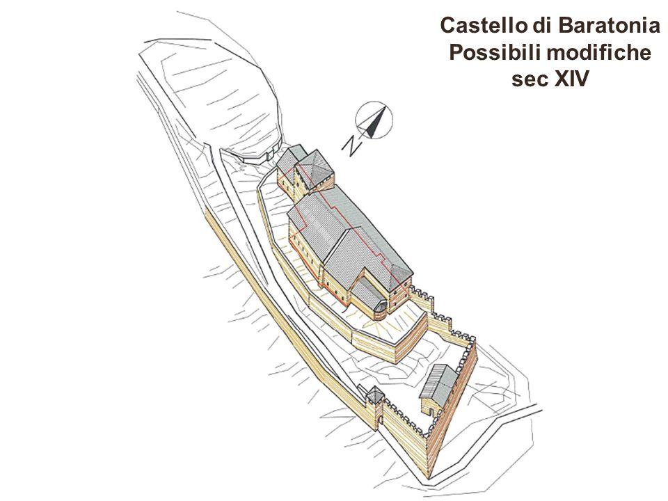 Castello di Baratonia Possibili modifiche sec XIV