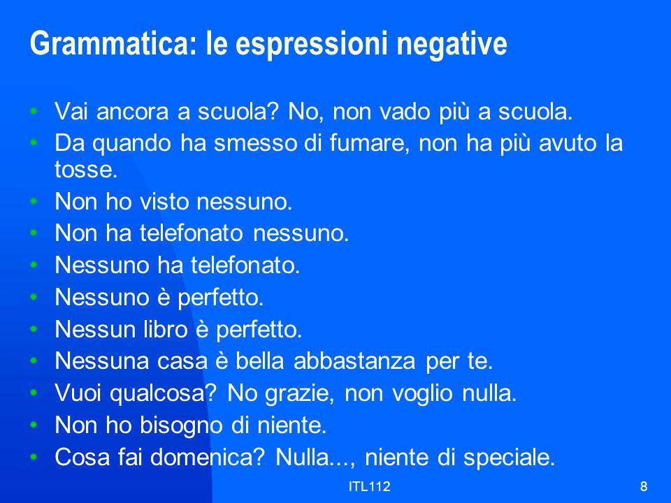 ITL1129 Grammatica: l'imperfetto, come si forma The imperfect is a simple tense.