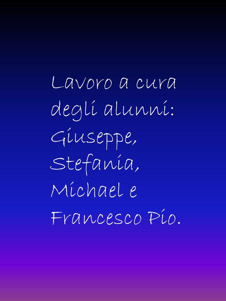 Lavoro a cura degli alunni: Giuseppe, Stefania, Michael e Francesco Pio.