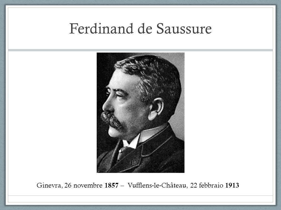 Ferdinand de Saussure Ginevra, 26 novembre 1857 – Vufflens-le-Château, 22 febbraio 1913